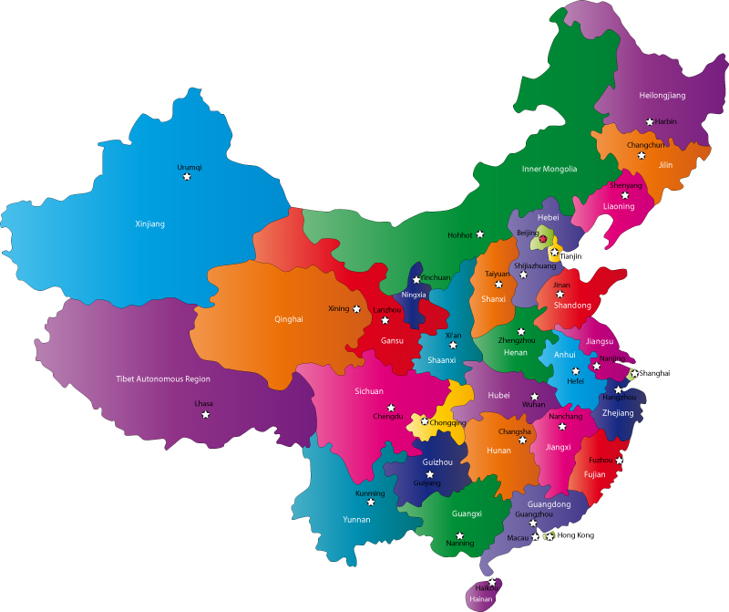 Chinese Provinces And Capital Cities Map Provinces Of China - China map