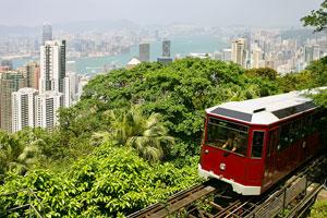 funicular railway tram, Victoria Peak, Hong Kong