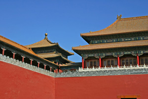 gate at entrance to the forbidden city - tiananmen square, beijing, china